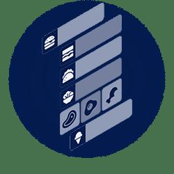 Contactless menu generator